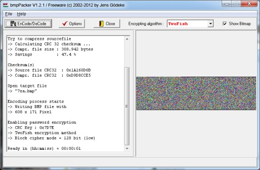 Screenshot of bmpPacker
